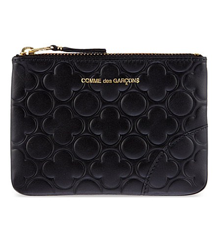 COMME DES GARCONS Embossed leather pouch (Black