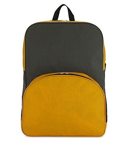 COMME DES GARCONS Two-tone backpack (Grey+yellow
