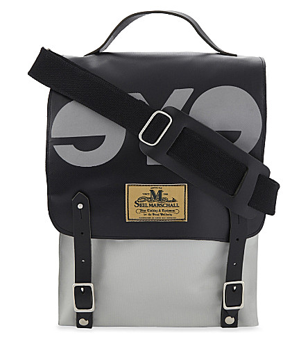JUNYA WATANABE Seil Marschall logo patch satchel (Black grey