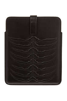 ALEXANDER MCQUEEN Ribcage leather iPad case