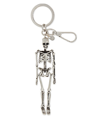 ALEXANDER MCQUEEN Skeleton keyring (Silver