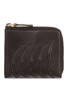 ALEXANDER MCQUEEN Ribcage zipped coin purse
