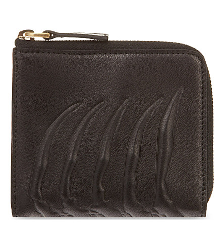 ALEXANDER MCQUEEN Ribcage zipped coin purse (Black