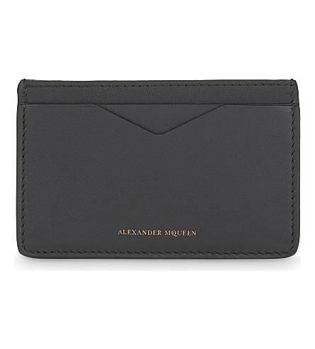 ALEXANDER MCQUEEN Classic leather cardholder (Black
