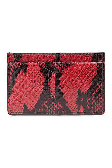 ALEXANDER MCQUEEN Snakeskin credit card holder