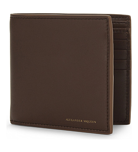ALEXANDER MCQUEEN Leather billfold wallet (Tan