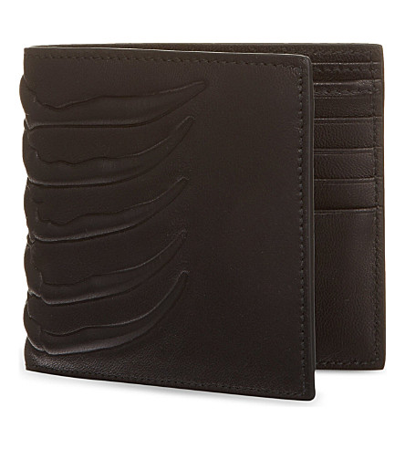 ALEXANDER MCQUEEN Ribcage leather wallet (Black
