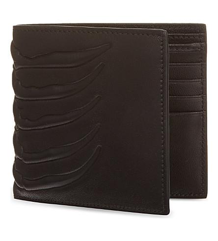 ALEXANDER MCQUEEN Ribcage leather wallet (Black