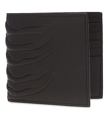ALEXANDER MCQUEEN Rib Cage leather wallet (Black