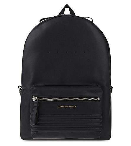 ALEXANDER MCQUEEN Stud strap leather backpack (Matte black