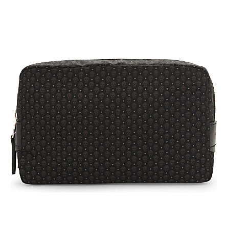 ALEXANDER MCQUEEN Mini skull print washbag (Black