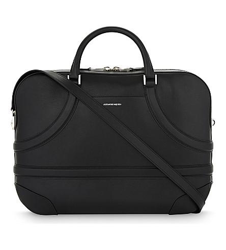 ALEXANDER MCQUEEN Harness leather briefcase (Black