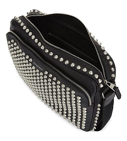 ALEXANDER MCQUEEN Studded Leather Shoulder Bag in Black