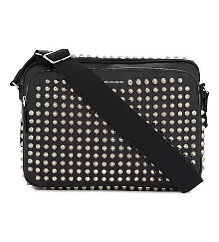 ALEXANDER MCQUEEN Studded leather shoulder bag (Black