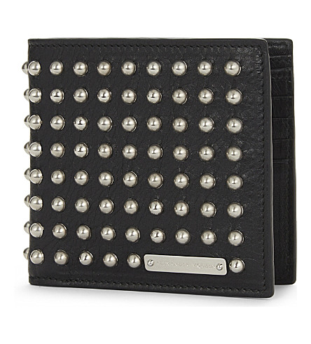 ALEXANDER MCQUEEN Leather studded wallet (Black/silver