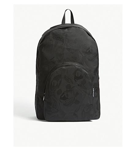 ALEXANDER MCQUEEN Skull camouflage large nylon backpack (Black