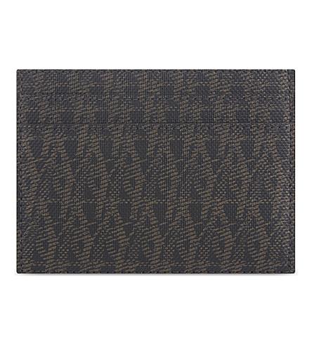 SAINT LAURENT Monogram leather card holder (Black
