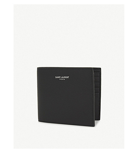 SAINT LAURENT Leather billfold wallet (Black