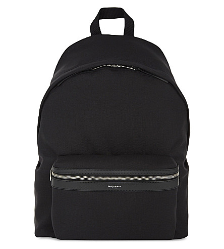 SAINT LAURENT City nylon backpack (Black
