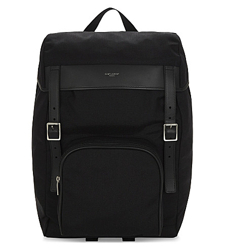 SAINT LAURENT Moon Hunting nylon backpack (Black