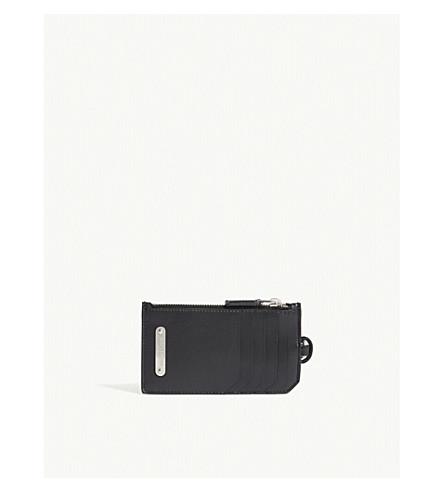 SAINT LAURENT ID plate leather card holder (Black