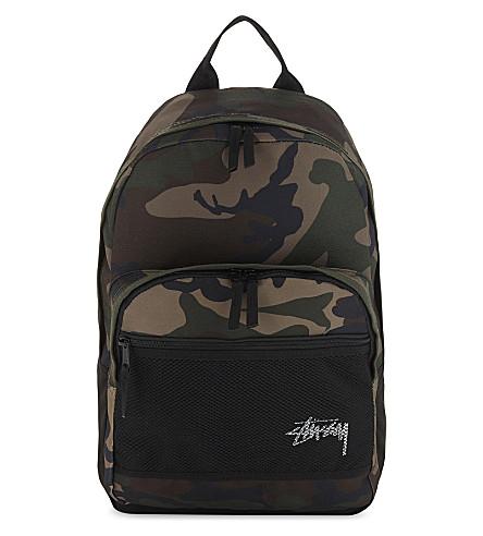 STUSSY Stock backpack (Woodland+camo