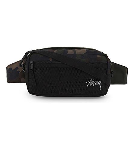 STUSSY Stock camouflage side bag (Woodland+camo