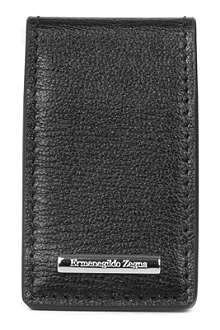 ZEGNA Heritage leather money clip