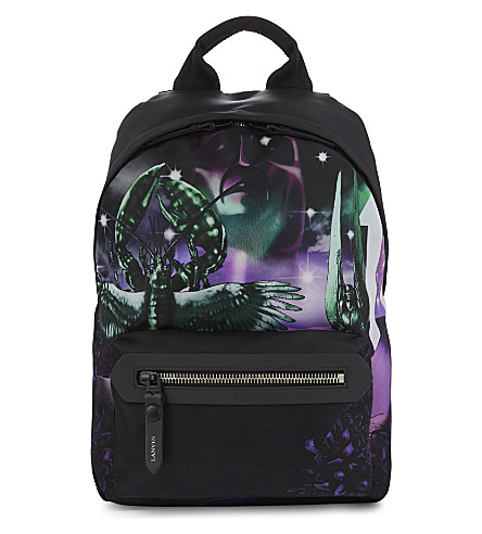 LANVIN Lobster dune printed backpack (Black