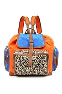 PIERRE HARDY Tri-print suede backpack