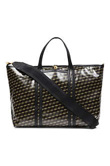 PIERRE HARDY Canvas-coated cube tote