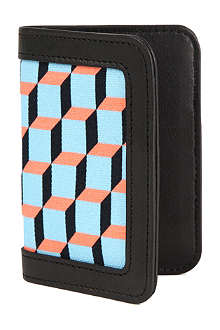 PIERRE HARDY Leather-trimmed cube-printed wallet