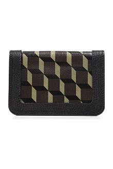 PIERRE HARDY Cube perspective coated canvas credit card holder