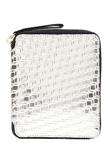 PIERRE HARDY Cube Perspective metallic zip wallet