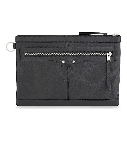 BALENCIAGA Arena Classic leather pouch (Noir