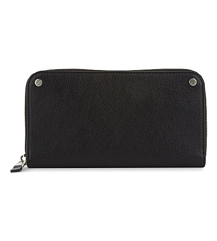 BALENCIAGA Arena classic continental leather wallet (Black