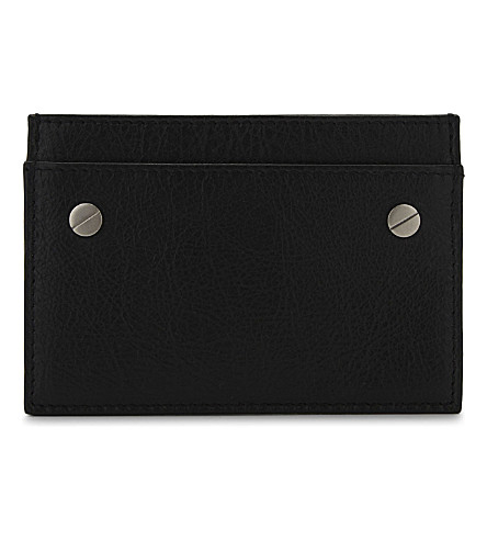 BALENCIAGA Arena leather card holder (Black