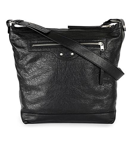 BALENCIAGA Leather day bag (Noir