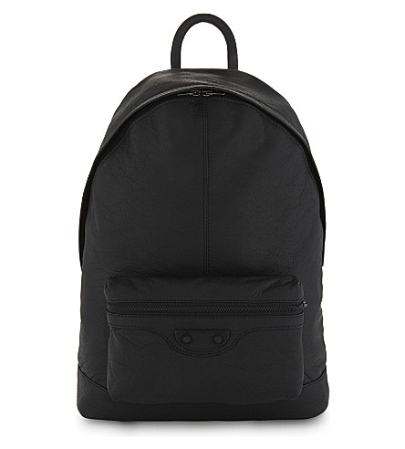 BALENCIAGA Arena grained leather backpack (Black