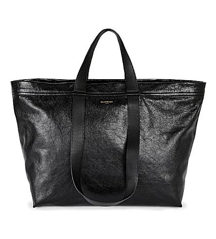 BALENCIAGA Carry Shopper leather bag (Noir