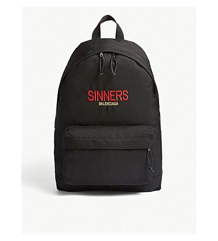 BALENCIAGA Explorer Sinners backpack (Black