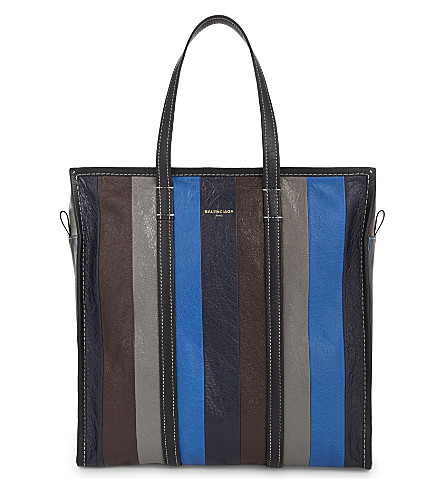 BALENCIAGA Bazar leather shopper (Blue+grey