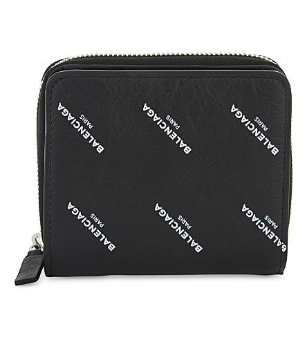 BALENCIAGA Leather billfold wallet (Black+white