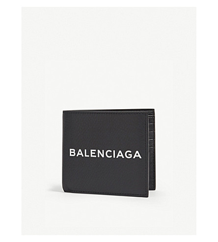 BALENCIAGA Baltimore grained leather billfold wallet (Black