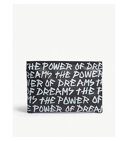 BALENCIAGA涂鸦印花皮袋 (黑色 + 白色