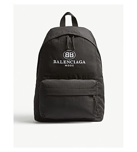 BALENCIAGA Explorer canvas backpack (Blk+wht