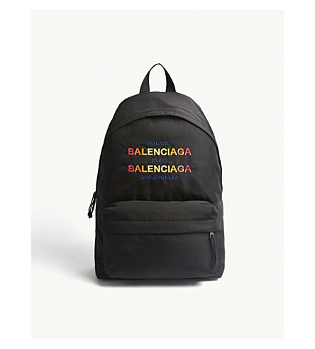 BALENCIAGA Explorer nylon backpack (Blk+multi