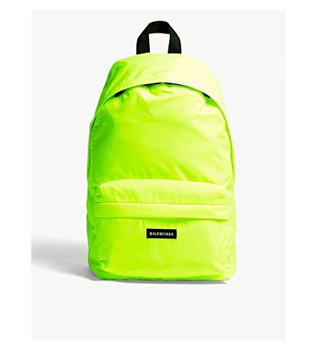 nylon yel BALENCIAGA neon BALENCIAGA backpack Flou Explorer Explorer wTp0prWqI