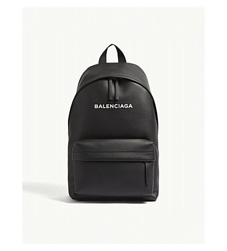 BALENCIAGA Baltimore leather backpack (Blk+wht