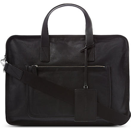 MARC BY MARC JACOBS Out of bounds leather briefcase (Black